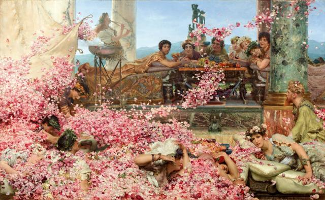 Lawrence Alma-Tadema. The Roses of Heliogabalus. 1888. Oil on canvas.