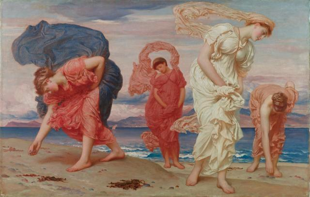 Frederic Lord Leighton. Greek Girls Picking Up Pebbles by the Sea. 1871. Oil on canvas.