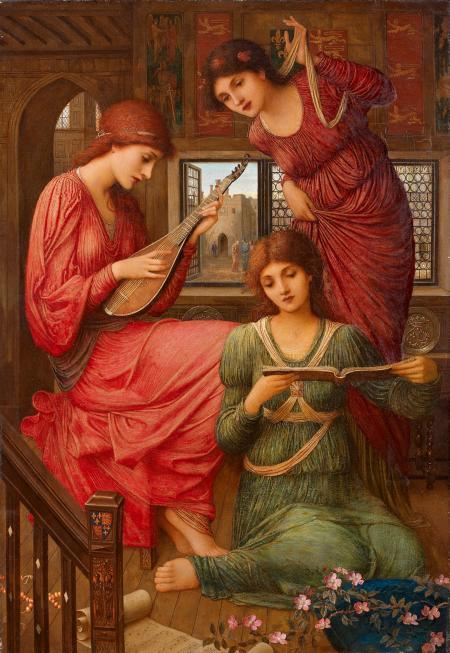 John Melhuish Strudwick. In the Golden Days. 1907. Oil on canvas.