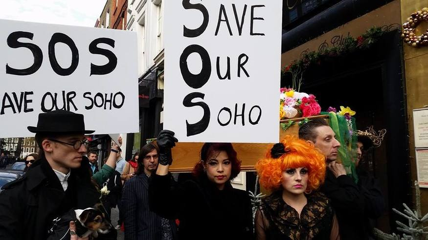 The campaign to save Madame Jojo's took to the streets of Soho.