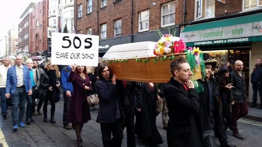 "As one wag said, ""Only a cabaret protest could get a coffin at a moment's notice."""