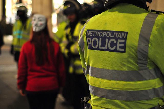 A heavy police presence