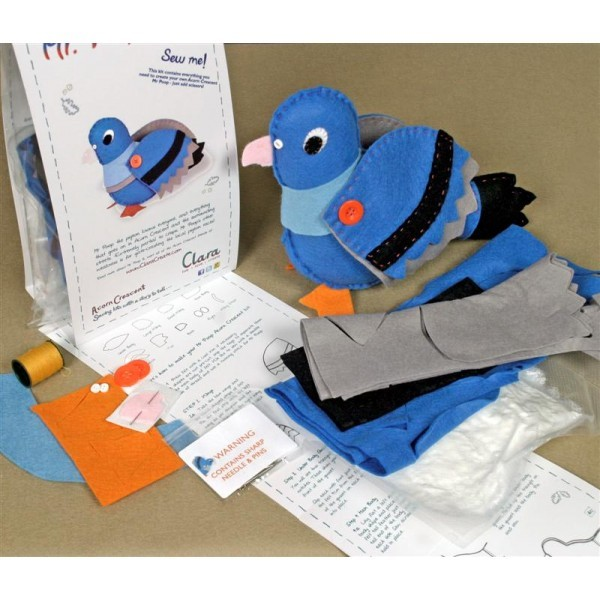 Sew him from this craft kit!