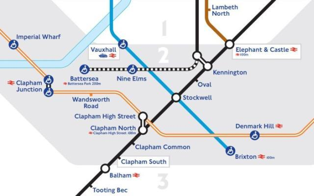 The planned Northern Line extension to Battersea.