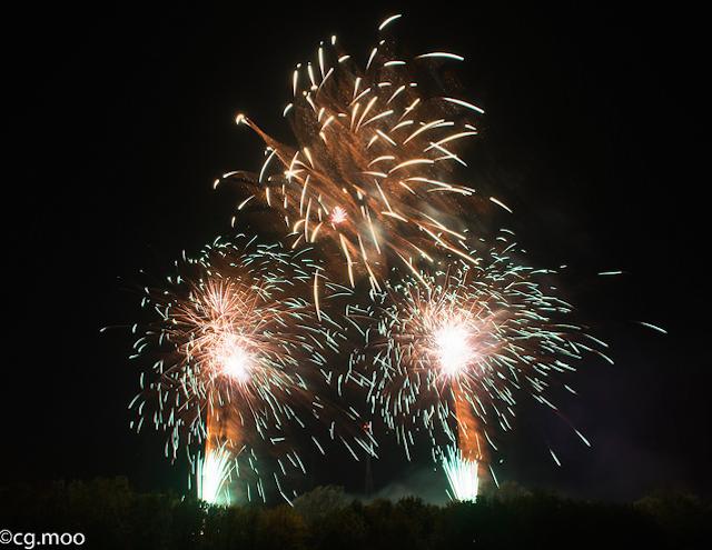 Fireworks at Alexandra Palace by Christine Gau