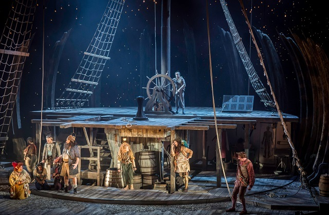 TREASURE ISLAND by Stevenson,             , Writer – Robert Louis Stevenson, Director – Polly Findlay, Designer – Lizzie Clachan, Lighting – Bruno Poet, Movement – Carolina Valdes, The National Theatre, 2014, Credit: Johan Persson/