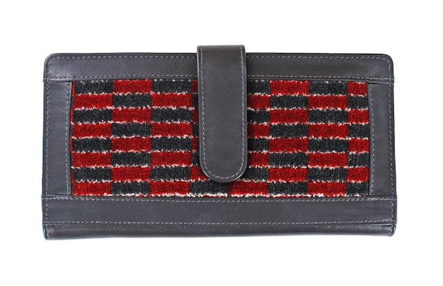 Ladies' leather and moquette wallet, £69.99. The wallet is available in four moquette designs: New Routemaster, Old Routemaster, B-Type and District.