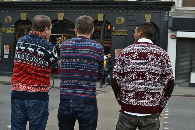 Christmas jumper line-up, by psyxjaw