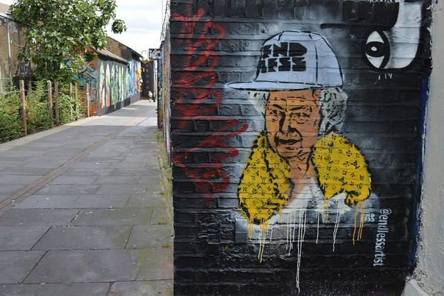 Queen with hard hat by Matt Brown