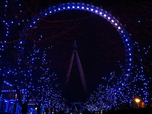 Christmas-y London Eye, by Andy Blackwell