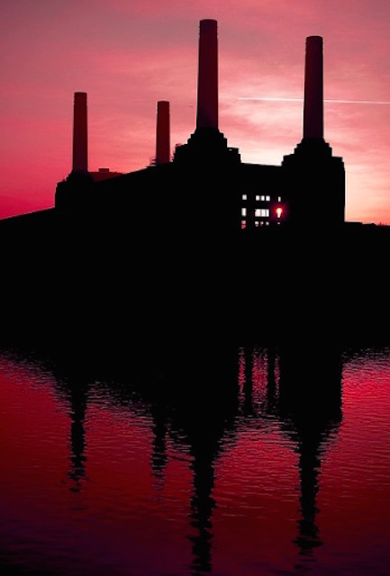 The four (currently three and a half) iconic chimneys of Battersea Power Station. Photo: naughton