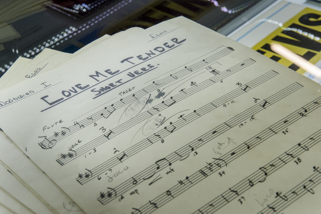 Original sheet music for Love Me Tender.