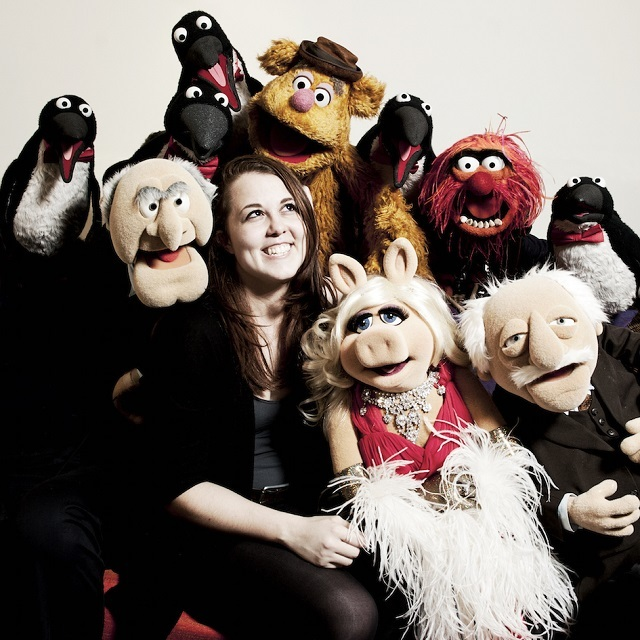 Muppets backstage with Idil Sukan herself. Photo credit Idil Sukan.