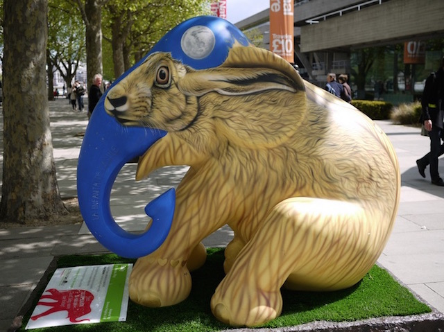 Rabbiphant, part of Southbank's 2010 Elephant Parade, a campaign to protect Indian elephants. Photo: Profuga74