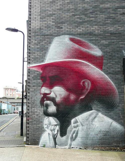 Mural in Hewett Street by redpopcreative