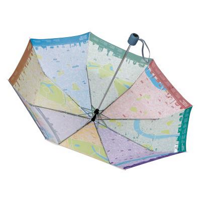 The inside of the London map umbrella