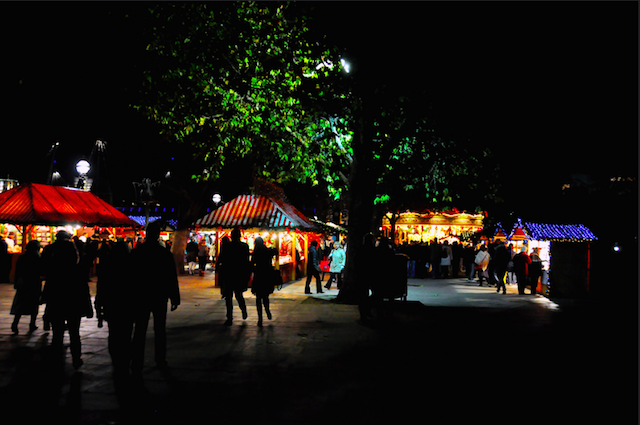South Bank Christmas market, by Kristian Gough.