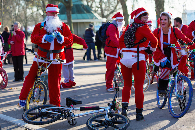 Santa Bike Run, by Tedz Duran
