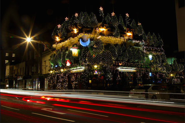 A veritable Christmas forest at The Churchill Arms pub, by Ian Wylie