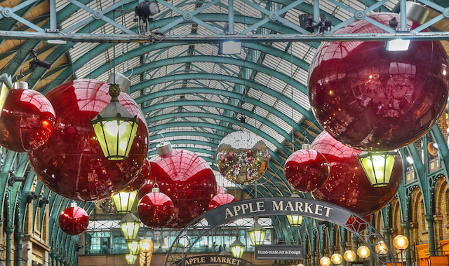 Big baubles in Covent Garden, by Panda 1