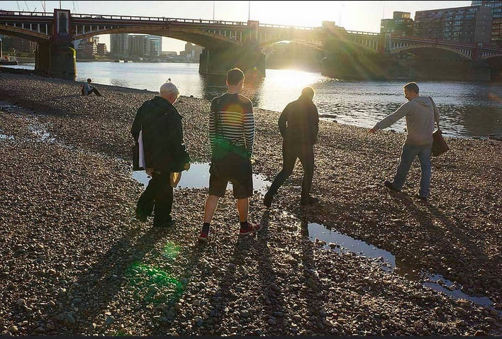 On the foreshore by Vauxhall Bridge