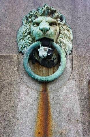 Aged Thames  Lion