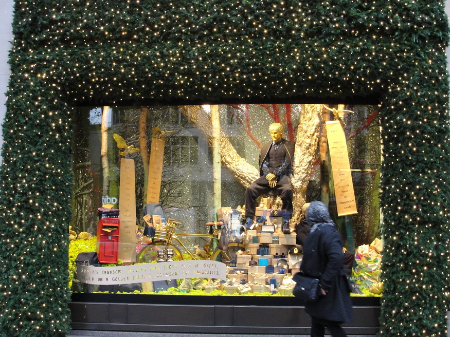Selfridges has put a pensive-looking guy in a tree.