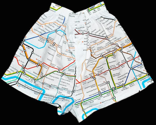 Subway Map Boxer Shorts.London Gift Guide London Underground Themed Underwear Londonist