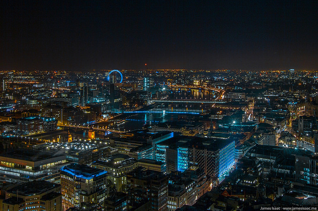 The view across Westminster from the crane above the Walkie Talkie