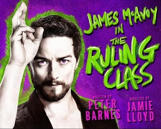 The Ruling Class stars James McAvoy and continues at the Trafalgar Studios until 11 April.