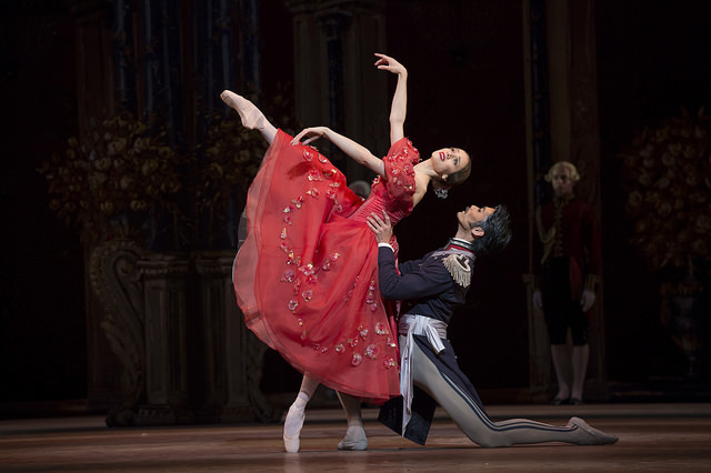 Marianela Nuñez as Tatiana and Ryoichi Hirano as Eugene Onegin in Onegin, The Royal Ballet Image: Bill Copper/ROH