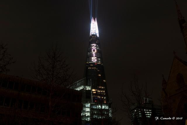 The Shard welcomes in the New Year. Photo by Francesco Camardo from the Londonist Flickr pool