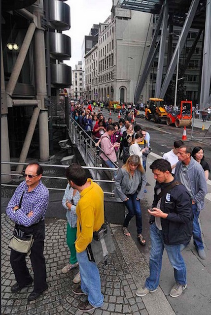 ...and this is the queue for access to the Leadenhall Building during Open House 2014. Photo: Andrew Smith