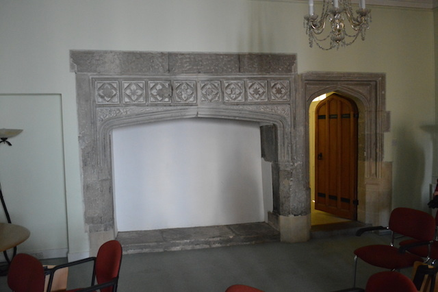 And here is the room in which Jane Seymour gave birth to Edward in 1537. The suite is today used as a briefing room, and contains little of interest other than this Tudor fireplace.