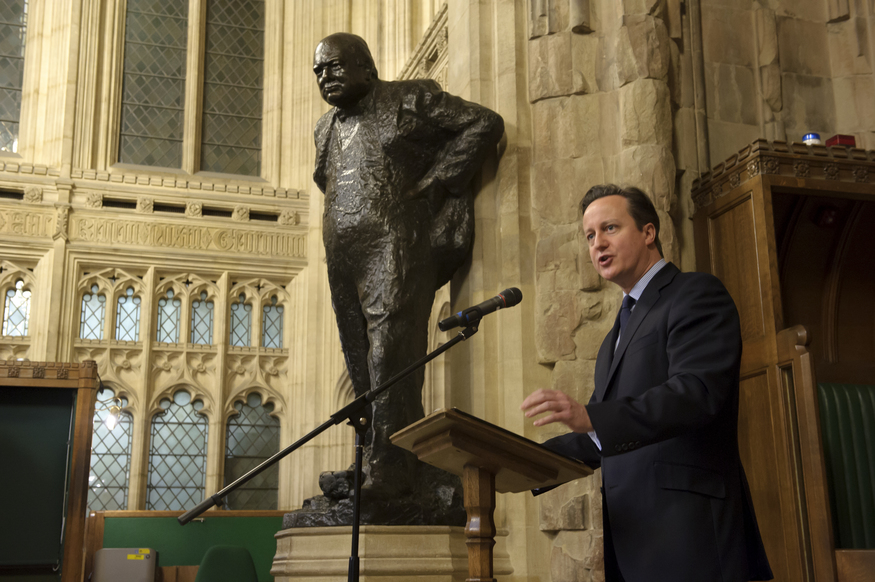 David Cameron talks about one of his political idols. © UK Parliament/Jessica Taylor