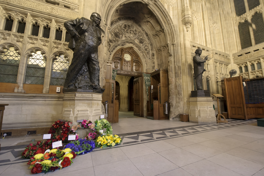 Churchill's statue, and the Churchill Arch. © UK Parliament/Jessica Taylor