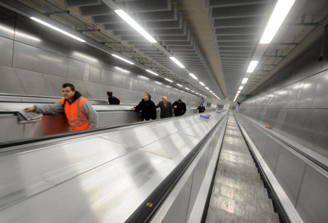 Very long escalators!
