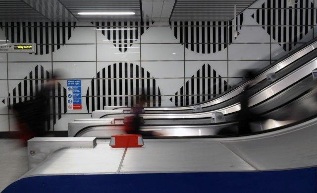 Three new escalators from street to ticket hall