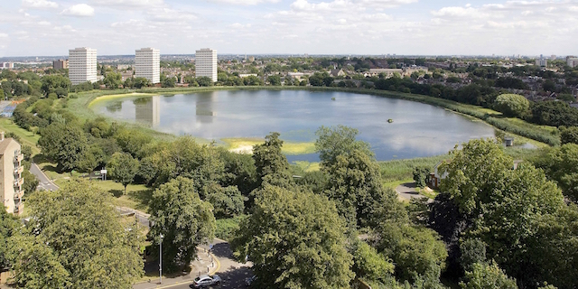 East Reservoir in Stoke Newington. Photo: London Wildlife Trust