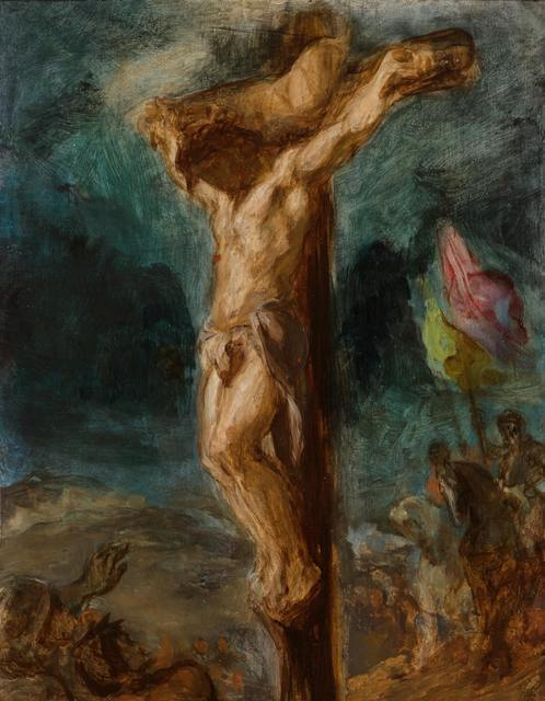 Eugene Delacroix  Crucifixion, 1846  Oil on panel, 37 x 25 cm  Museum Boijmans van Beuningen  Museum Boijmans Van Beuningen, Rotterdam/Photographer: Studio Tromp, Rotterdam