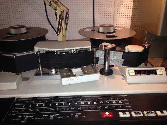 New studio, vintage recording equipment