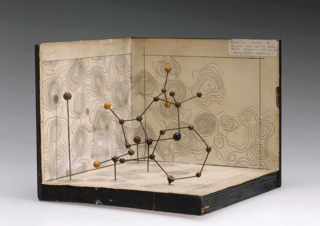 Molecular model of Penicillin by Dorothy Hodgkin, c.1945.