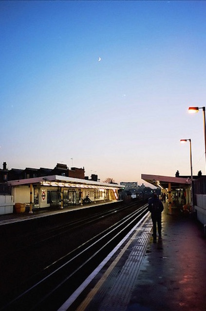 Twilight at Shepherd's Bush Market station. Photo: Olly Denton
