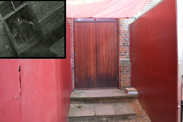 This off-limits fire exit hit the headlines a few years ago, when CCTV footage captured a mysterious cloaked figure closing the doors (inset). The figure was dubbed 'Skeletor' for his resemblance to the He-Man character. More here.