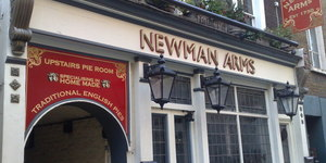 Fitzrovia's Newman Arms Closed And On The Market