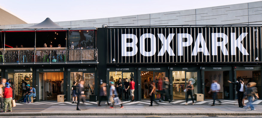 @BOXPARK is just off Shoreditch High Street station