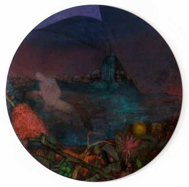 These dark and surreal circular landscapes are Fox's trademark. Copyright Nick Fox.