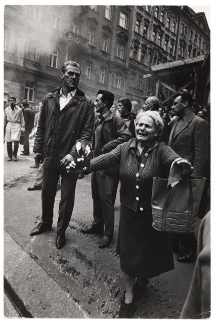 European photographs also feature, including this one of the Prague Spring -- the political liberalisation of Czechoslovakia. Hilmar Pabel, 1968.
