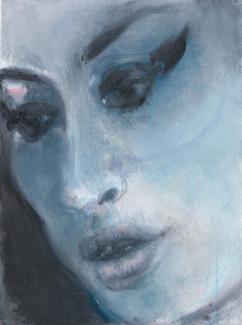 A painting of Amy Winehouse is one of the few portraits in this exhibition with emotional weight. © Marlene Dumas