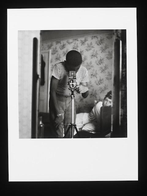 E.103-2013  Photograph Self-Portrait in Mirror; Photograph, 'Self-Portrait in Mirror', Armet Francis, gelatin silver print, 1964 Armet Francis London 1964 Gelatin silver print